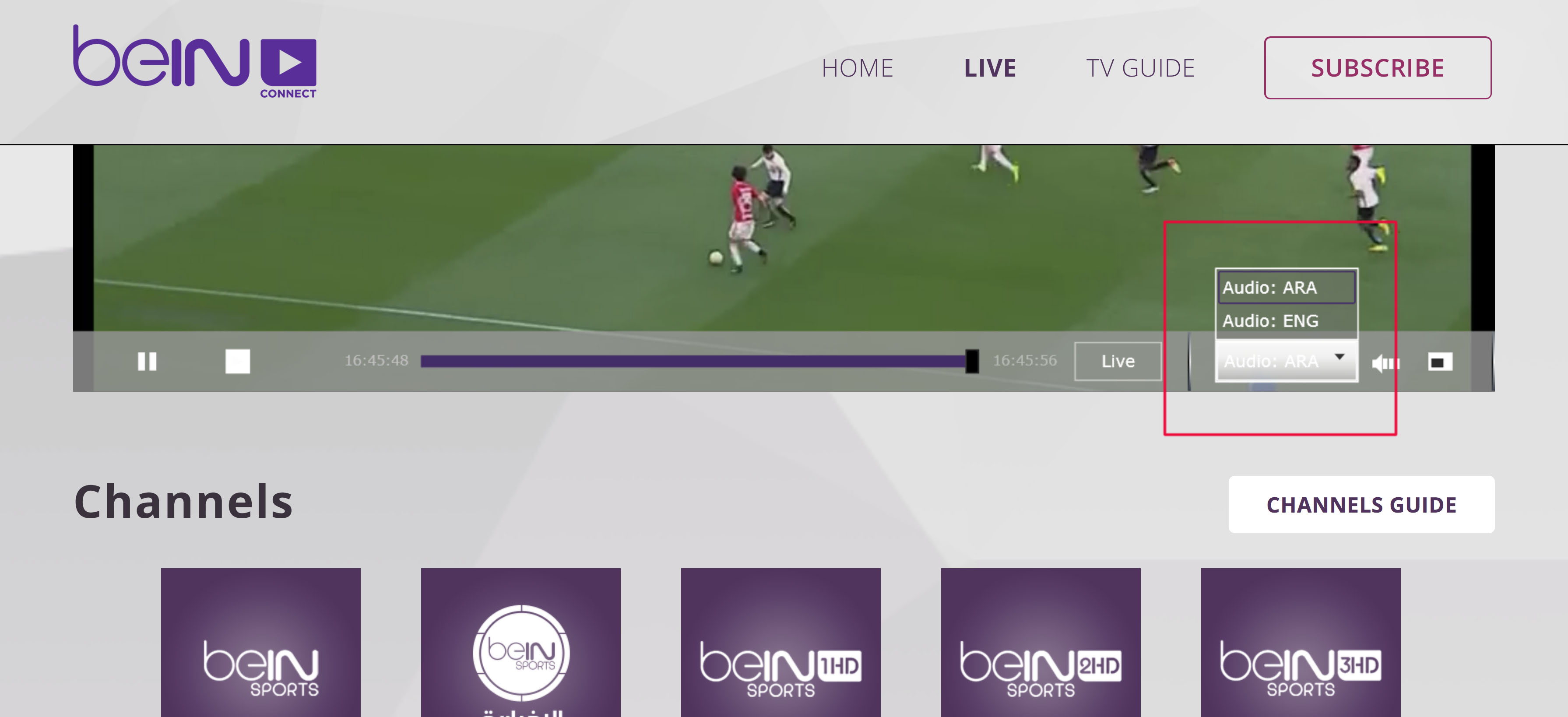 English audio Paid HD channels unblocked beinsportsconnect Error 3222