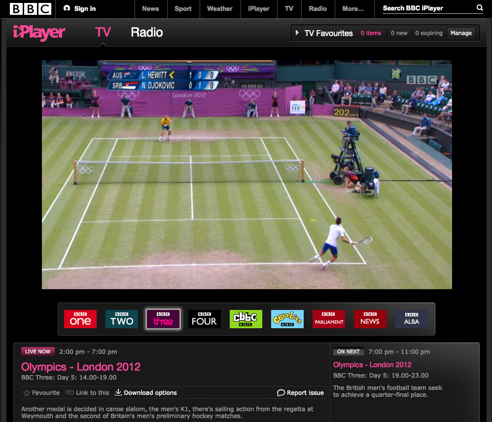 Watch BBCiPlayer outside UK BBC three - Live TV Olympics games