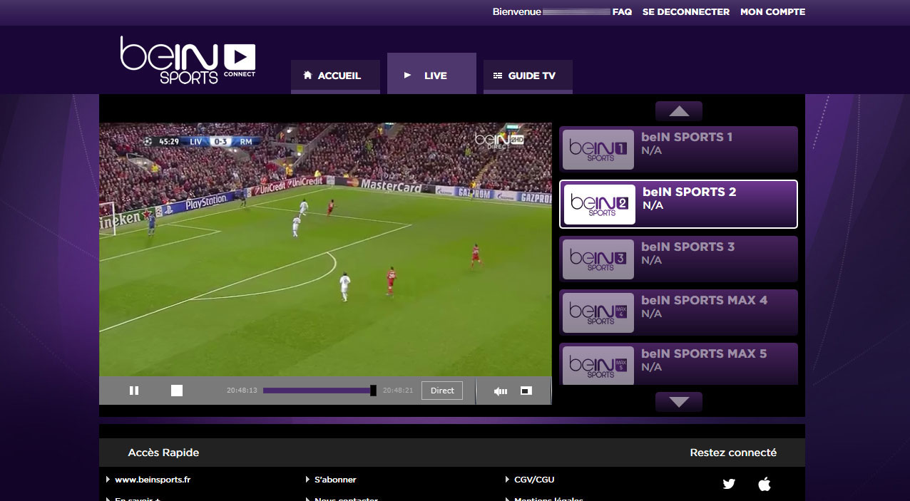 Unblock Bein Sports Connect France GeoBlocked error-10