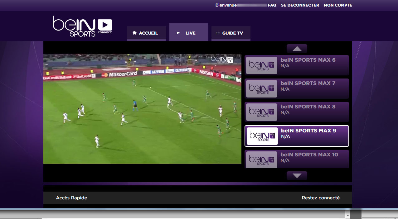 Unblock Bein Sports Connect France GeoBlocked error-12
