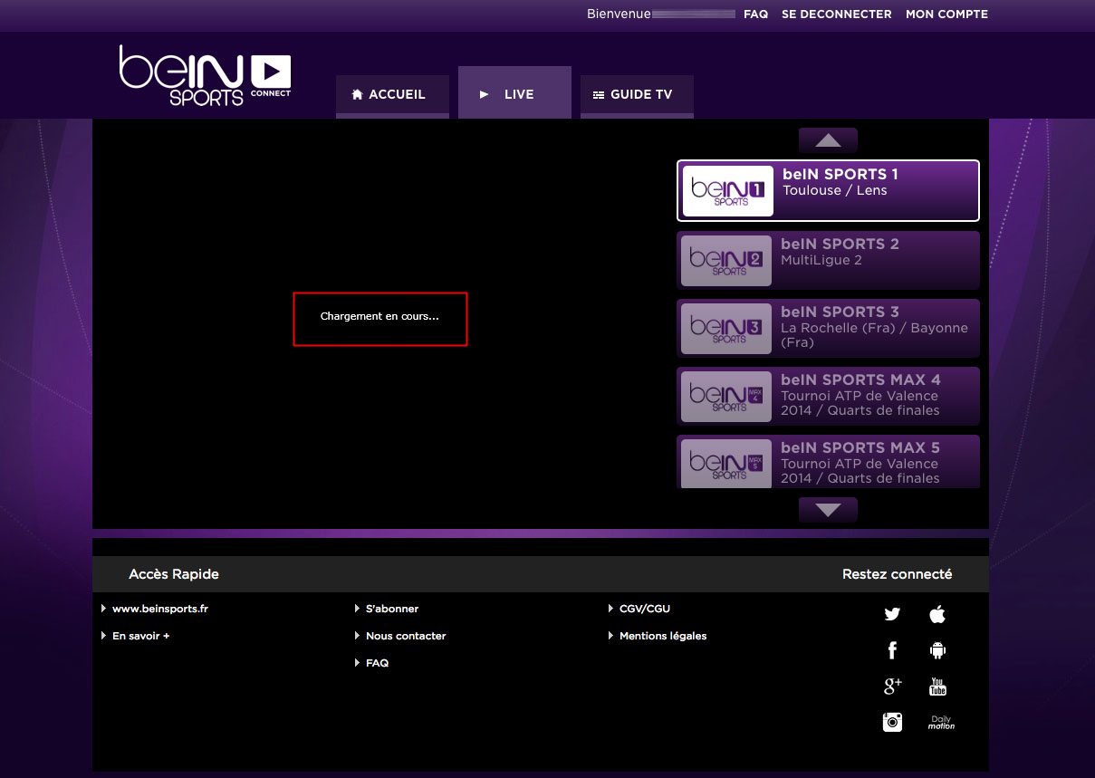 Unblock Bein Sports Connect France GeoBlocked error-17