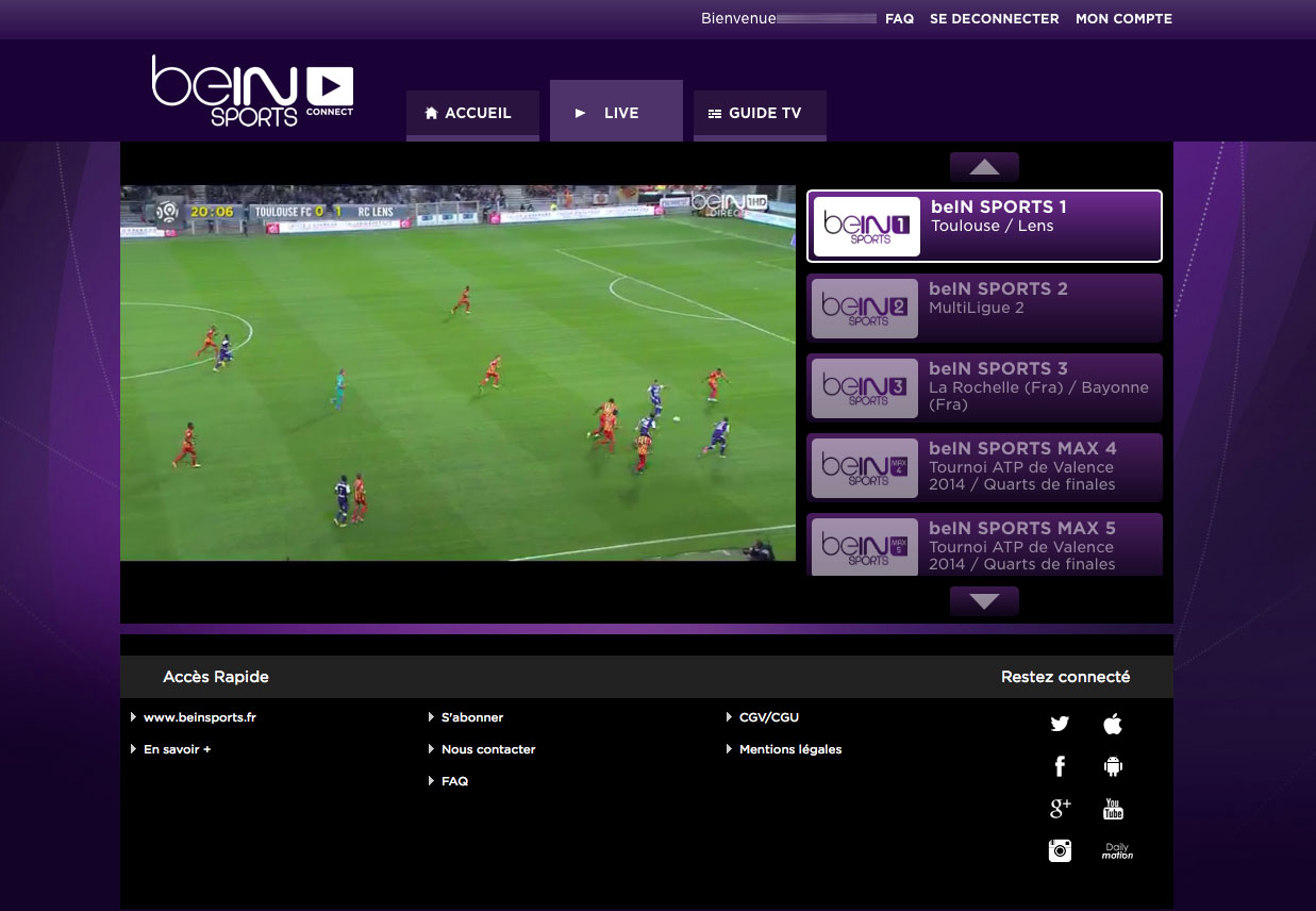Unblock Bein Sports Connect France GeoBlocked error-18