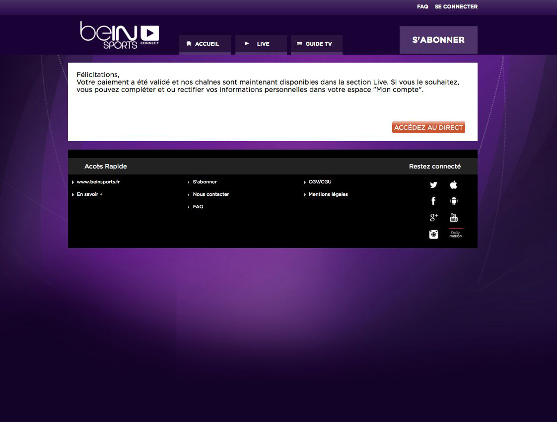 Unblock Bein Sports Connect France GeoBlocked error-5