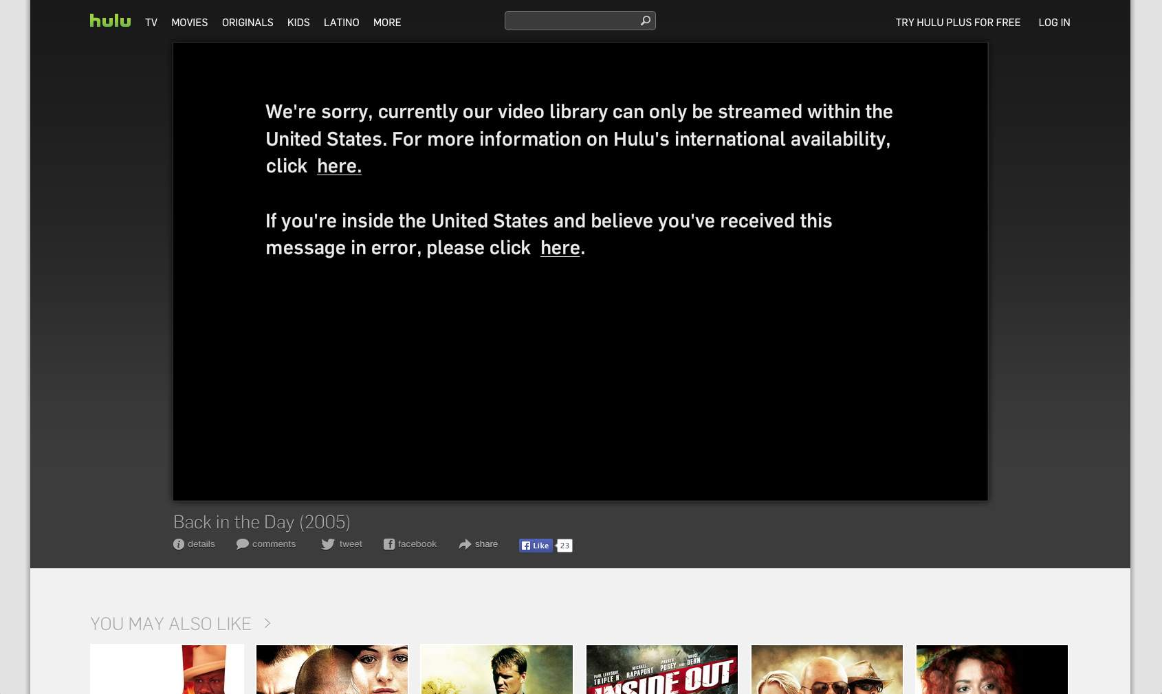 hulu not availble - GeoBlocked