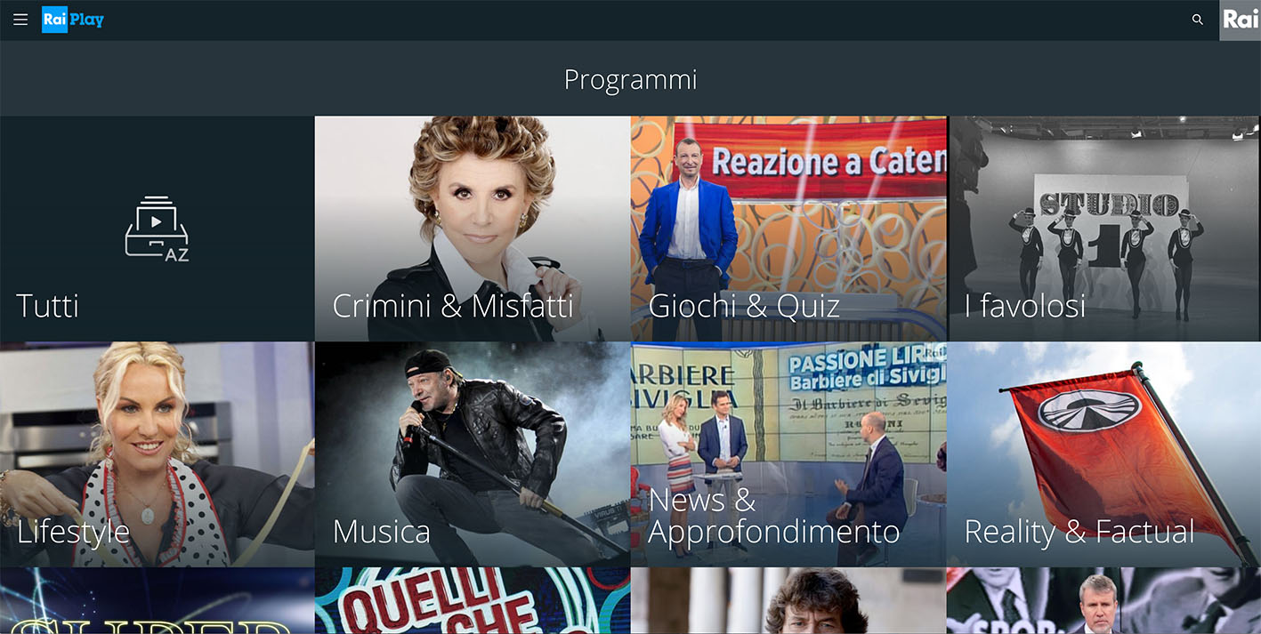 RaiPlay dirette TV not availble - Rai Play free streaming online Il Trono di Spade - Programs and TV Show