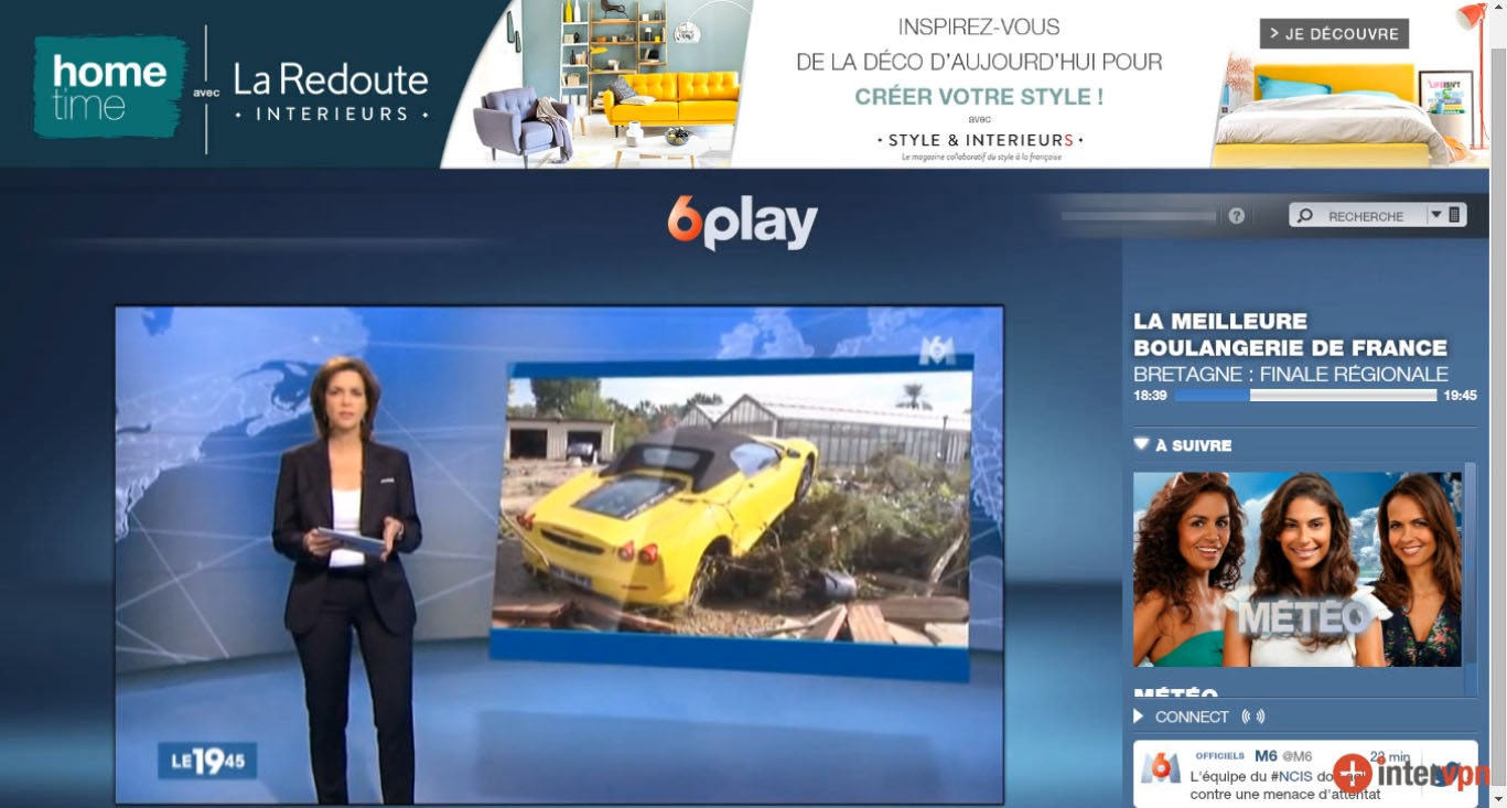 M6 live stream outside France, bypass geo blocking,unblocked