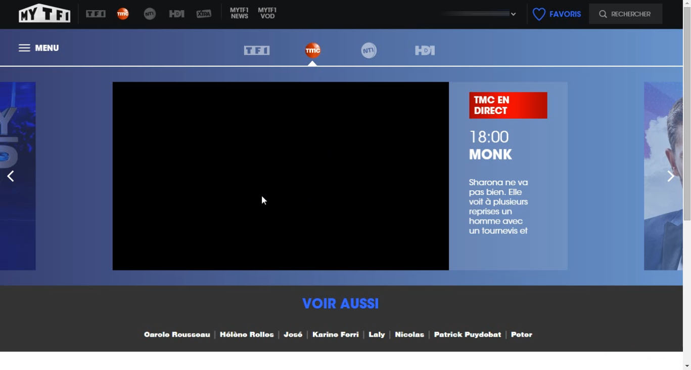 TMC live stream black screen, blocked