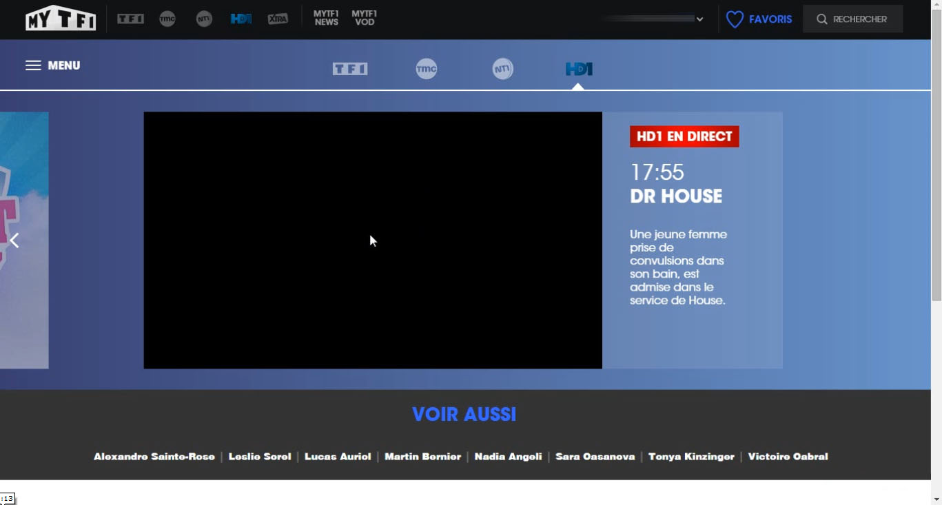 HD1 live stream black screen, blocked