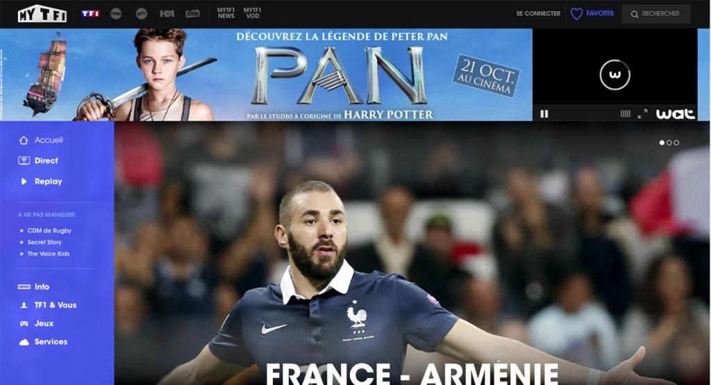 TF1 live stream outside France