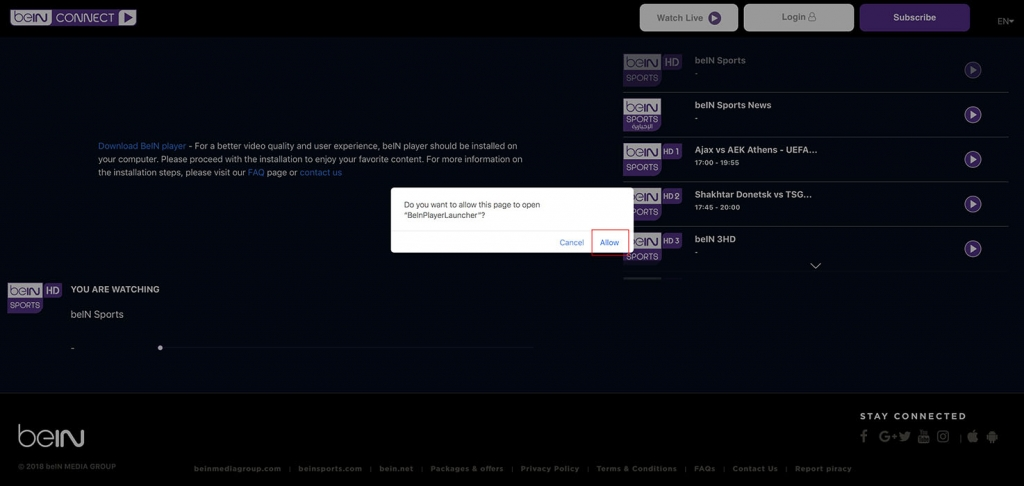 unlock bein sports abroad hd1 http error