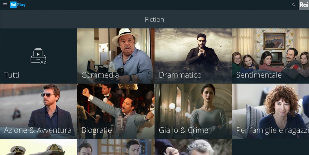 Watch Raiplay Fiction on demand- Rai TV outside Italy