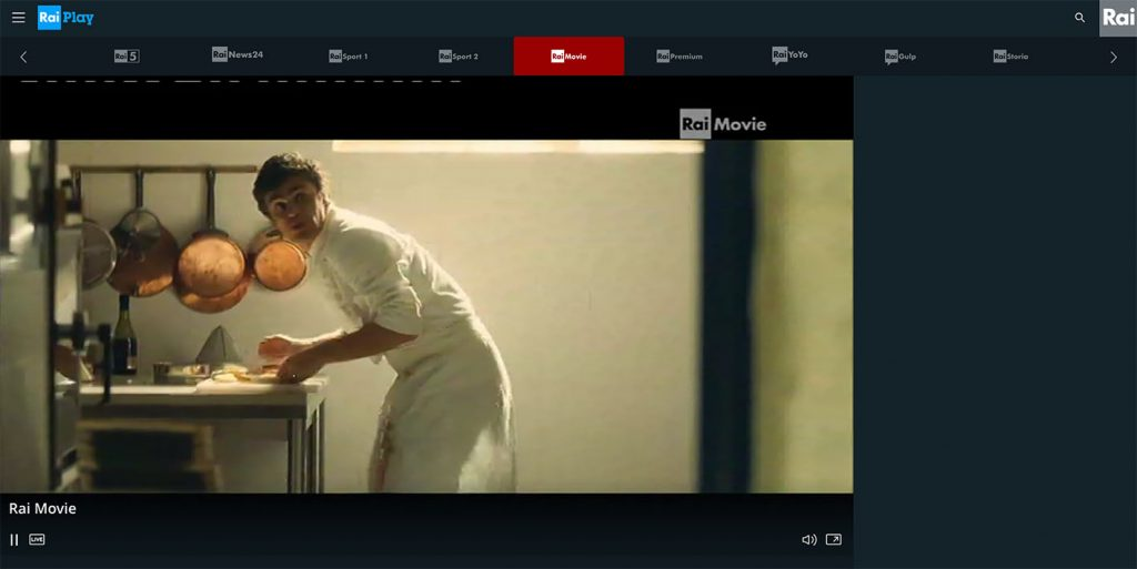 Watch live Rai Movie dirette - Raiplay abroad outside Italy
