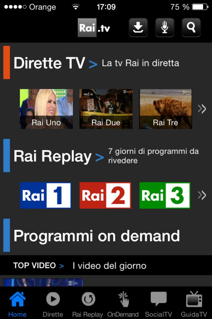 Watch Raiplay - Rai TV outside Italy - Mobile