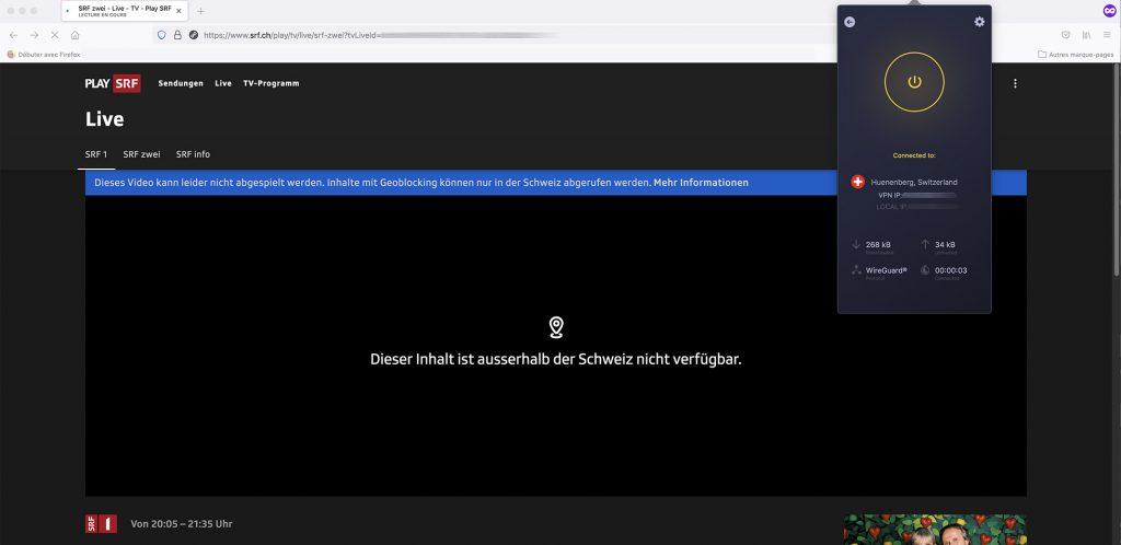 watch Play SRF outside Switzerland geo-blocking error