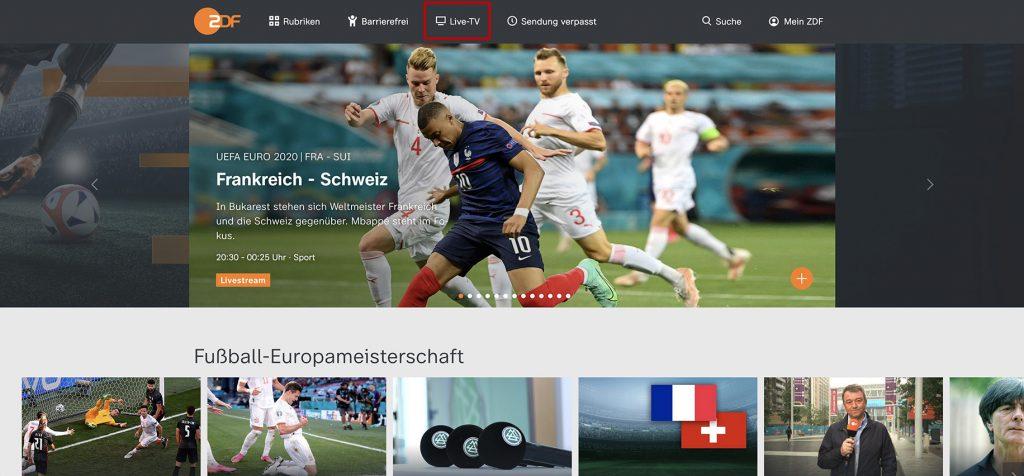 watch live ZDF abroad