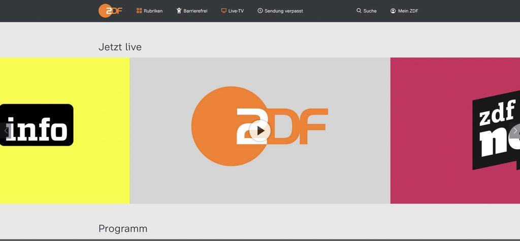 ZDF live Player