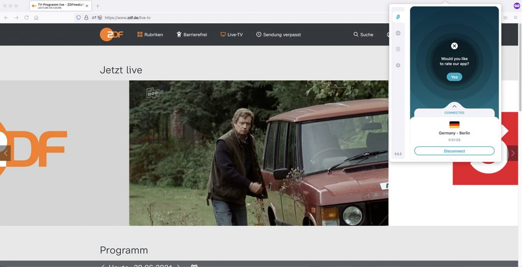 German iP to watch ZDF Neo channel abroad