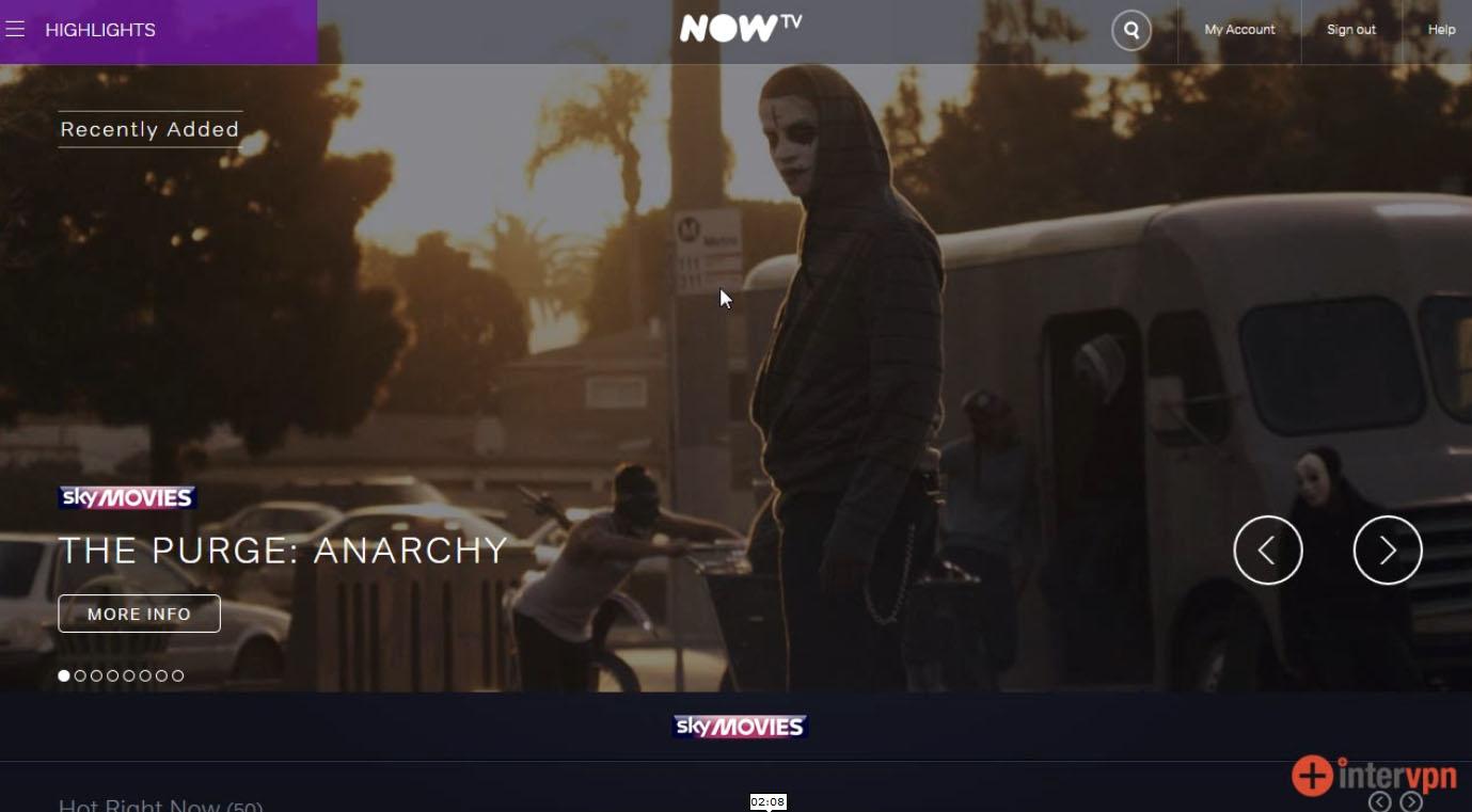 Watch NOW TV Sky outside UK
