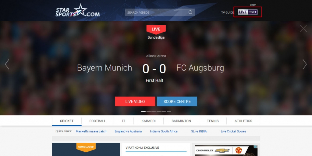 watch bundesliga live free stream - starsports