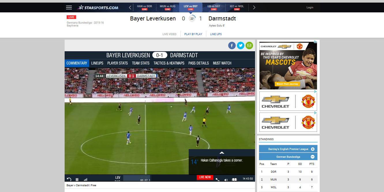 Watch Bundesliga Live Free Stream Starsports