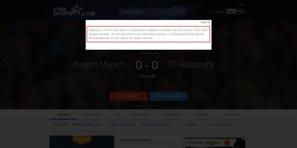 watch bundesliga live free stream - starsports