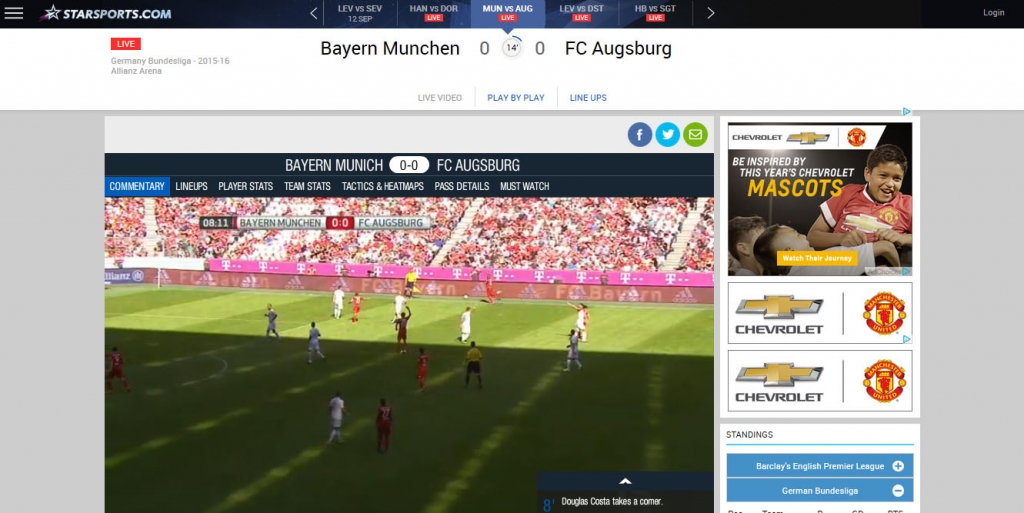 watch match bundesliga live online free stream - starsports