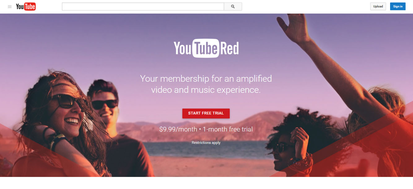 Youtube Red home page we successfuly access outside