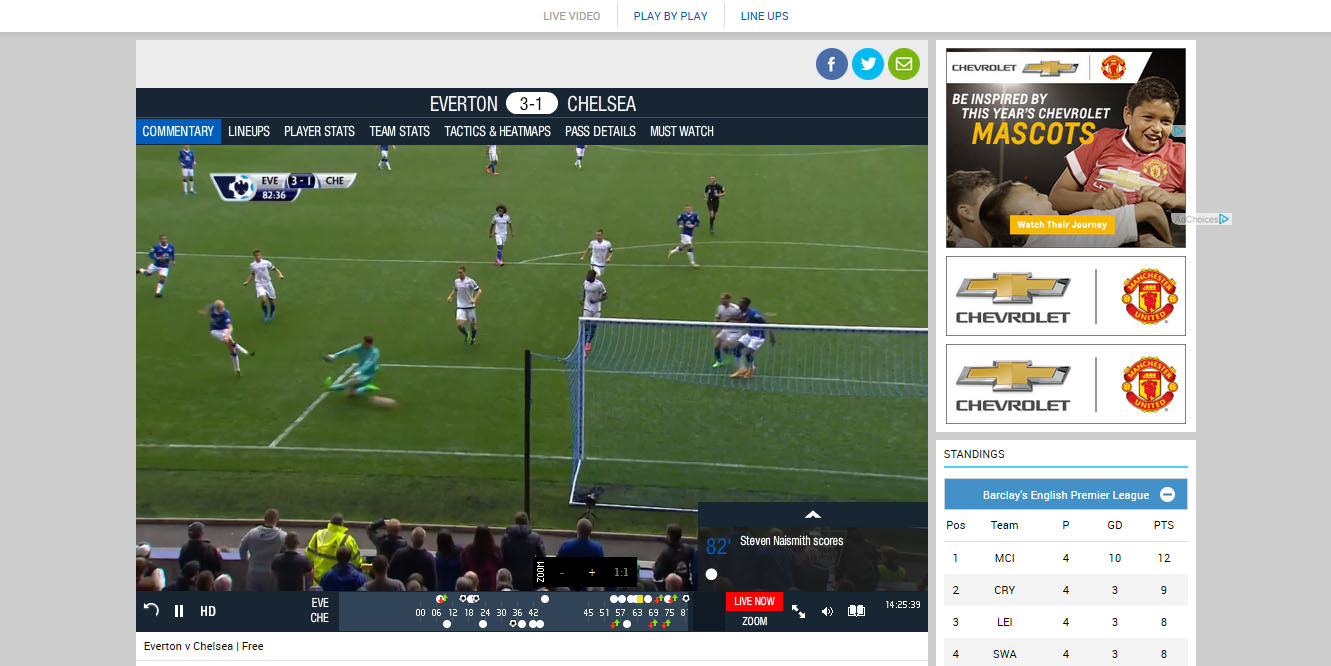 Watch Premier League Live Streams