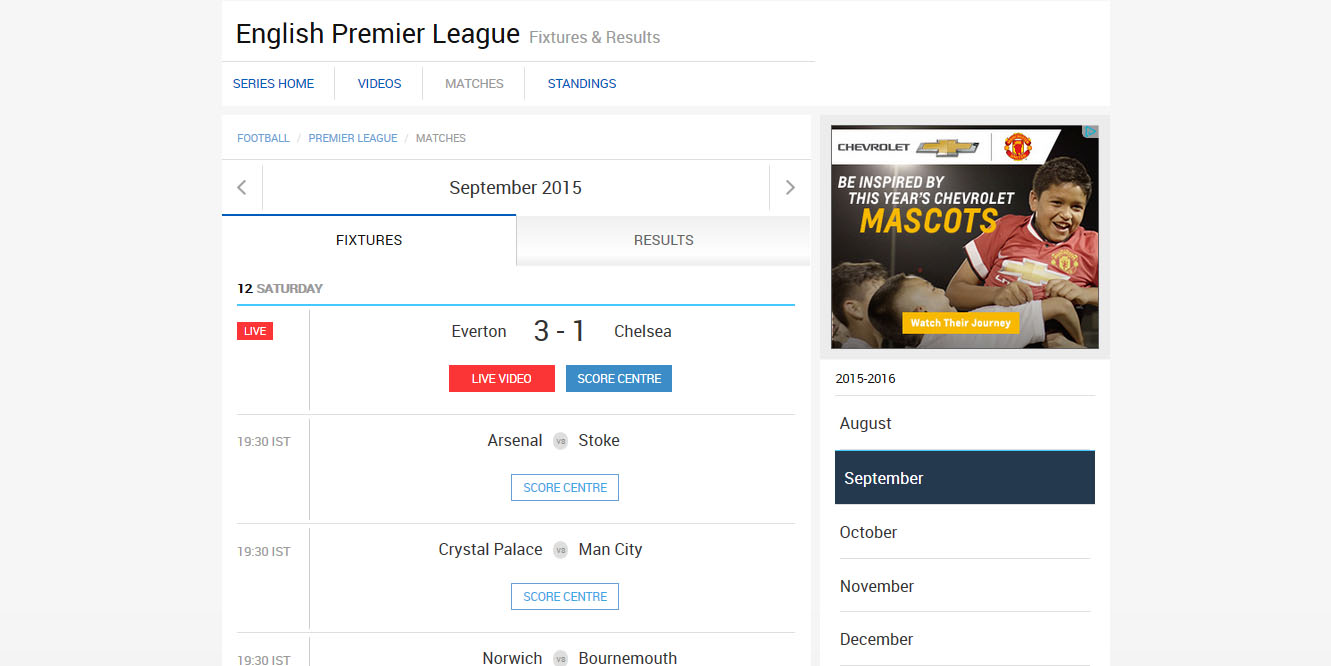 free streaming english premier league Star Sports