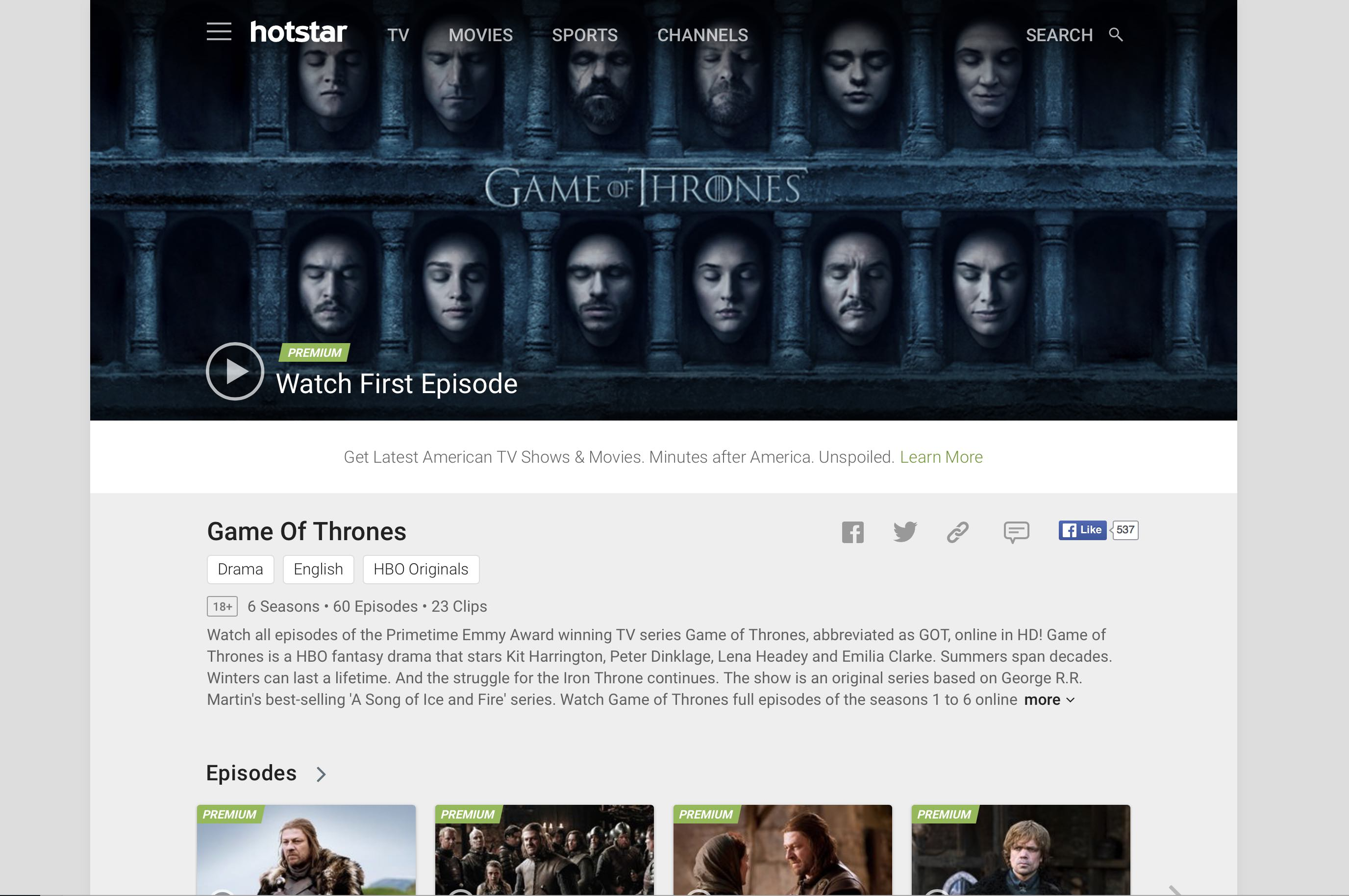 subscription to hotstar unblock Tv Show stream from US