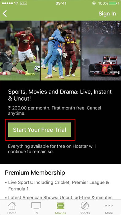 watch hotstar abroad in usa - itunes