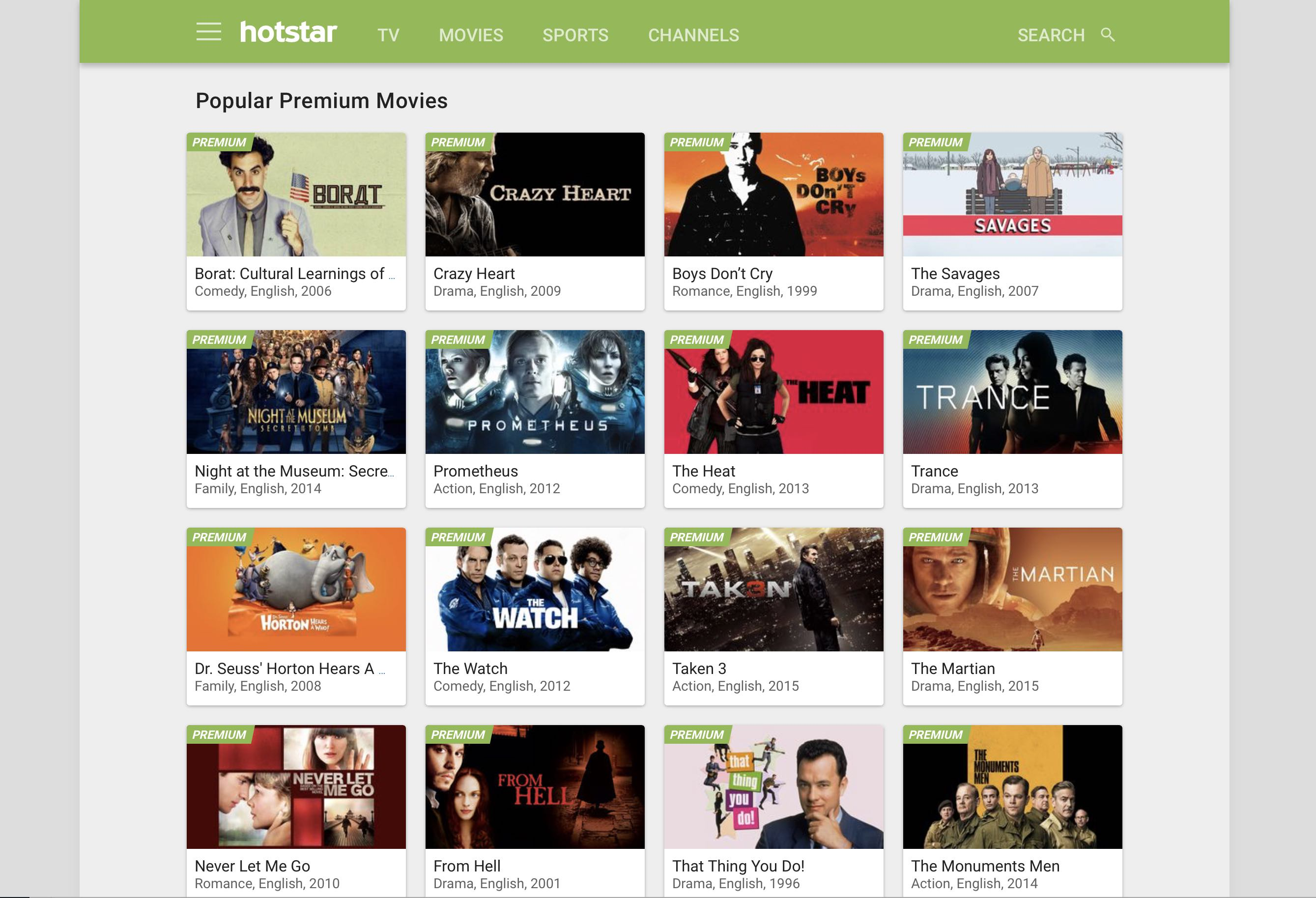 hotstar unblock Tv Show stream from US