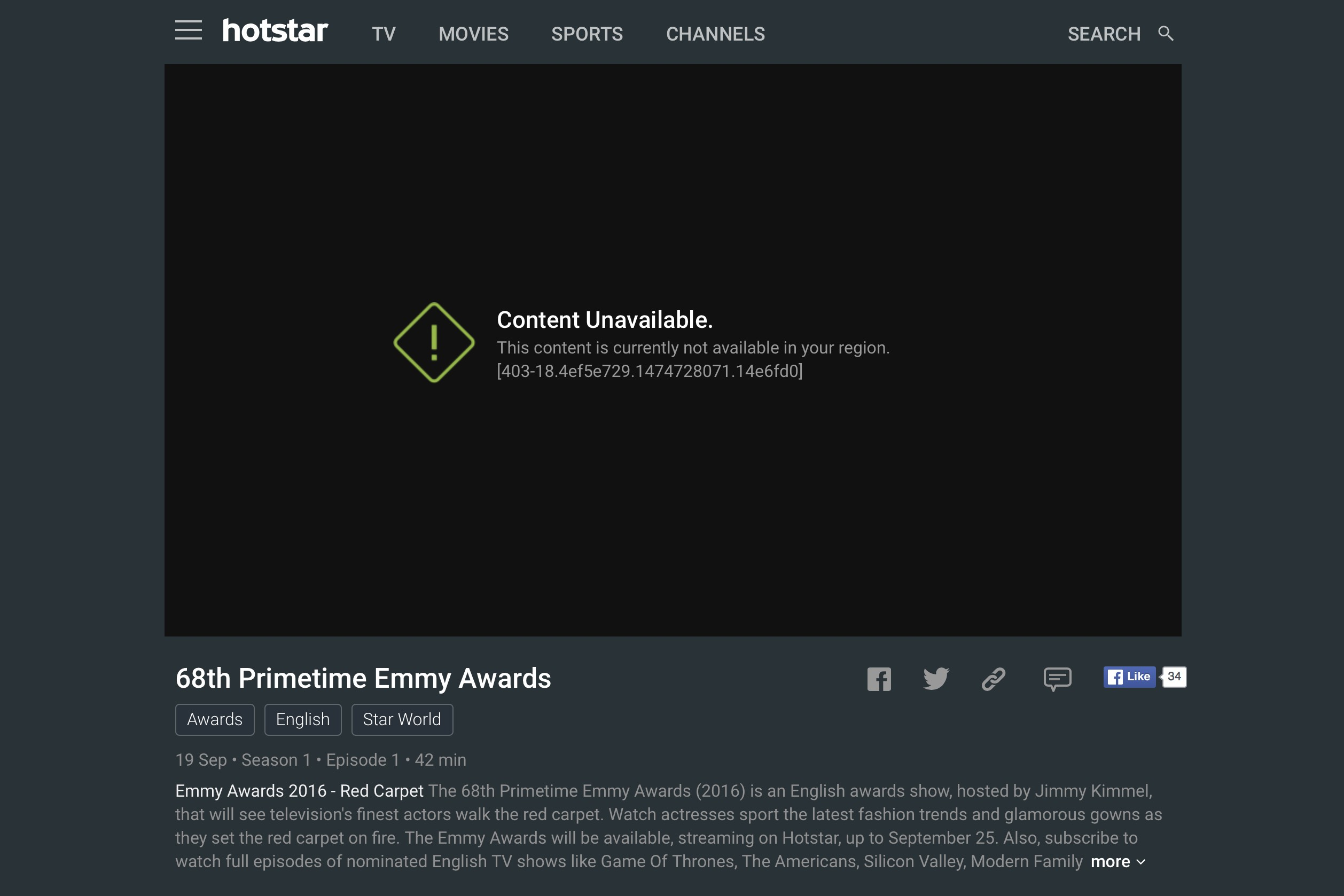 hotstar unblock live stream from US