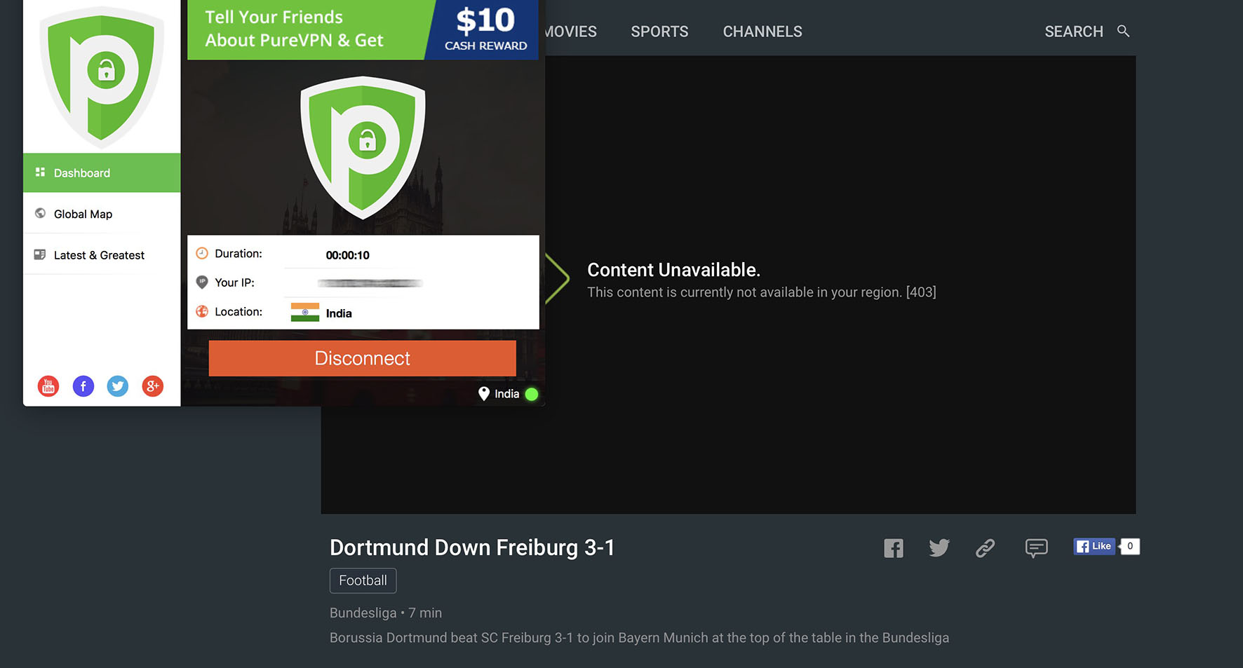 How to Watch Bundesliga Live stream on Hotstar outside India