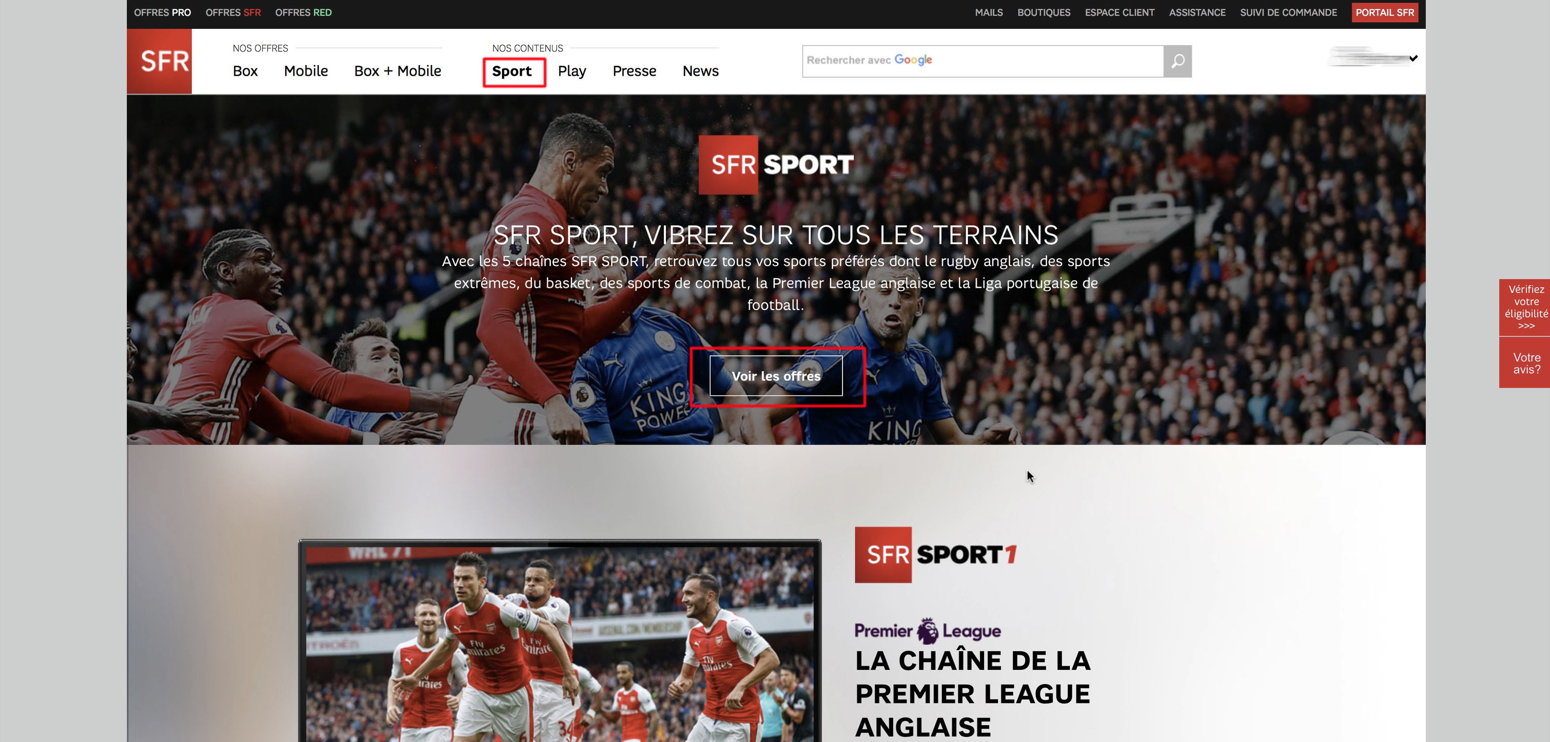 watch SFR Play - SFR Sport outside France