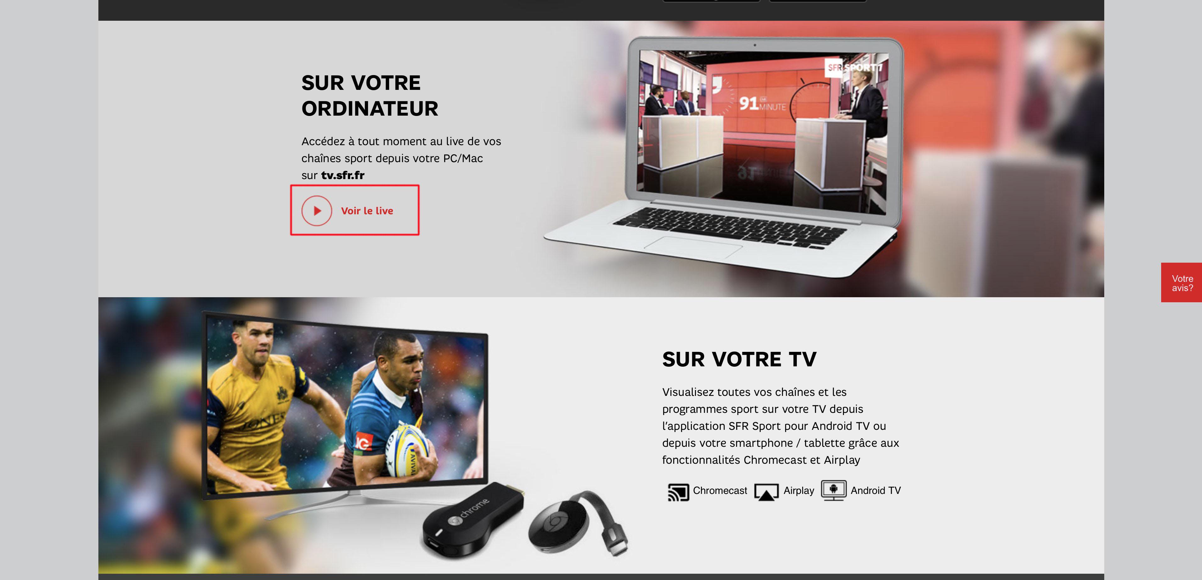 watch SFR Play - SFR Sport outside France