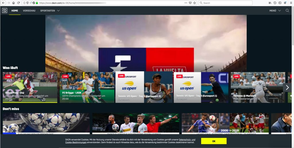 Watch DAZN outside germany