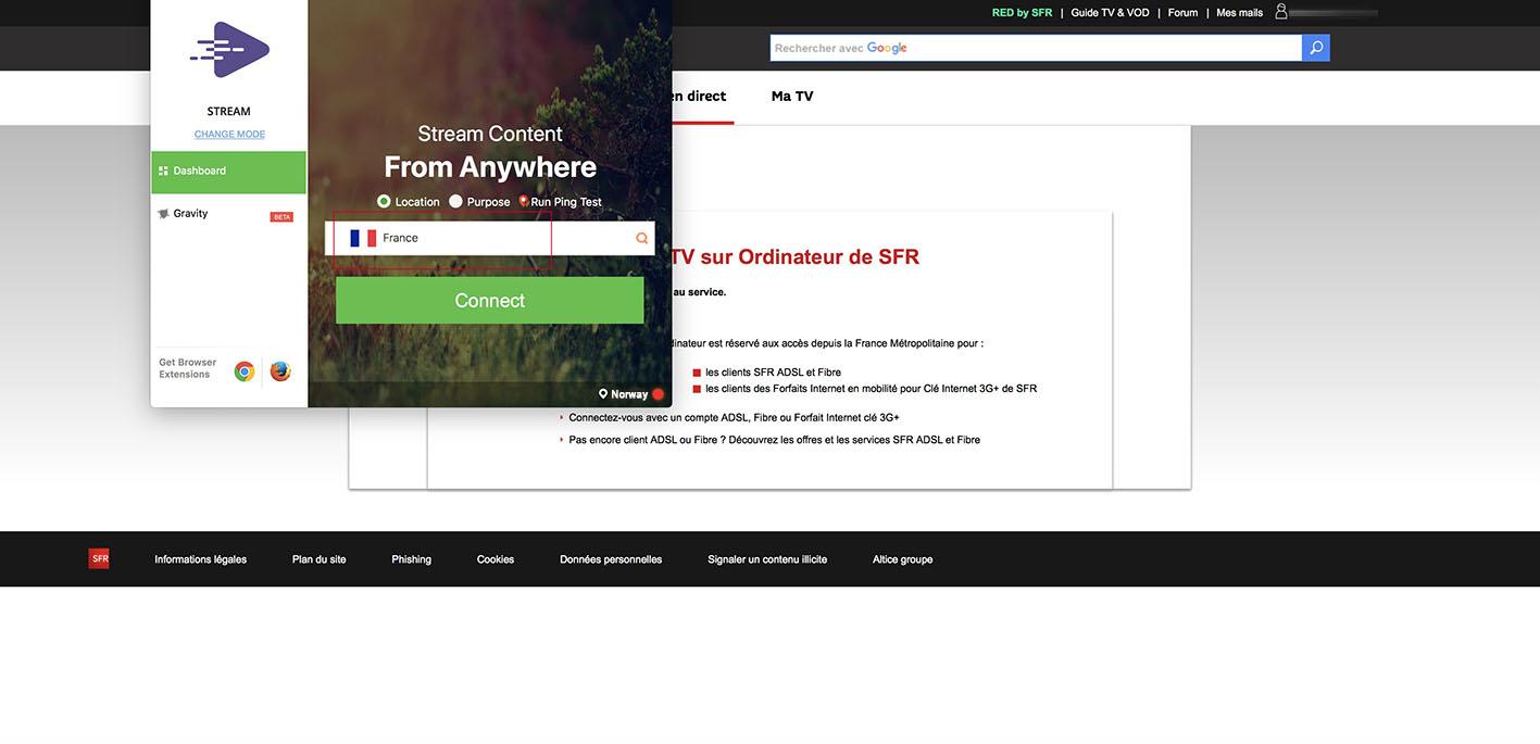 bypass geoblocking RMC Sport accès depuis la France Métropolitaine