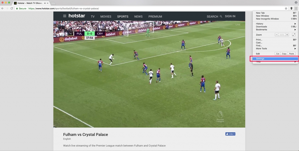 watch premier league online for free on hotstar outside india