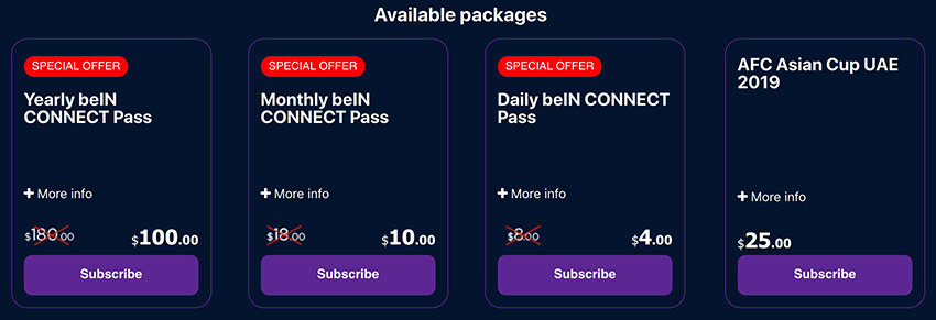 bein connect abroad promo 2019