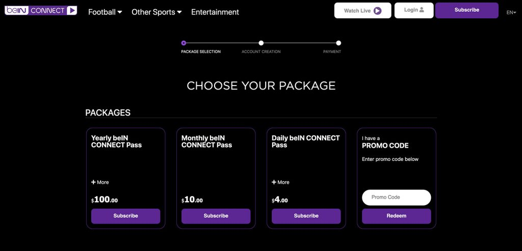 bein connect abroad promo 2020