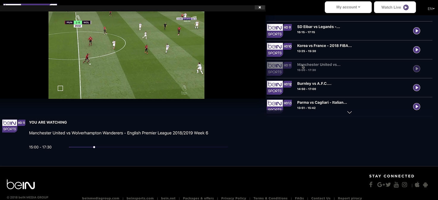 how to watch bein sports in canada
