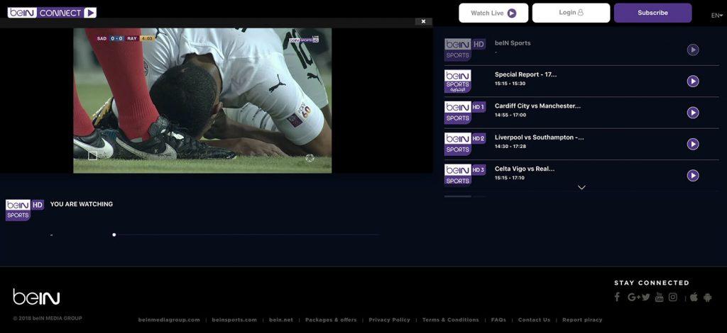 bein Sports in uk - http forbidden error