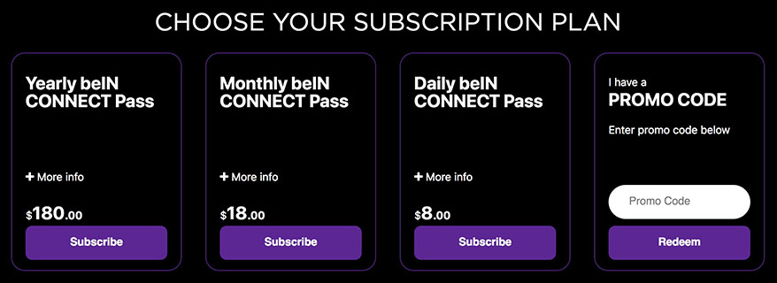 unlock bein Sports in uk connect abroad - subscription - http forbidden Error