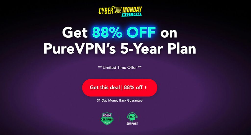 PureVPN 83off - Cyber Monday
