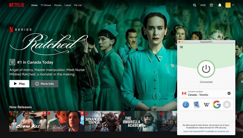 Watch Netflix Canada library by ExpressVPN the best VPN for Netflix