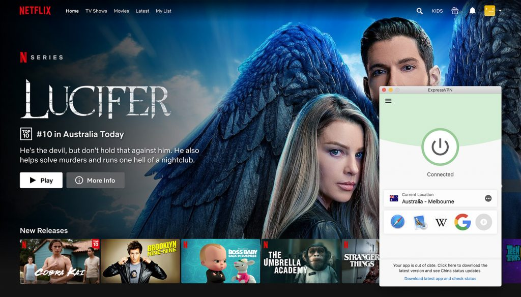 Watch Netflix Australia library by ExpressVPN the best VPN for Netflix