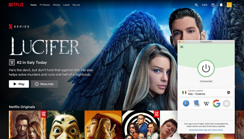 Watch Netflix Italy library by ExpressVPN the best VPN for Netflix