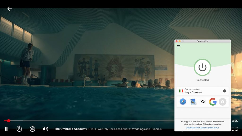 Watch Netflix Italy and change location on Netflix by ExpressVPN