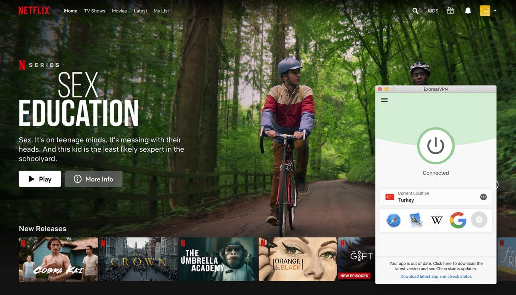 Watch Netflix Turkey library by ExpressVPN the best VPN for Netflix